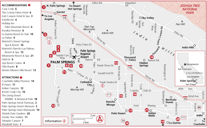 Maps in Palm Springs | Frommer's