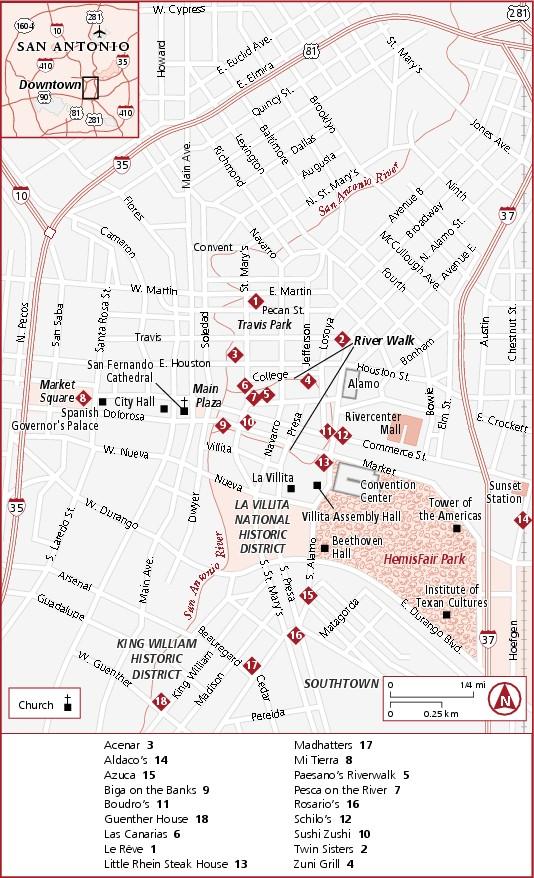 Map of Downtown San Antonio Downtown San Antonio