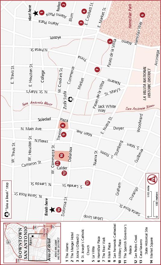 Map of Downtown San Antonio Tour Downtown San Antonio