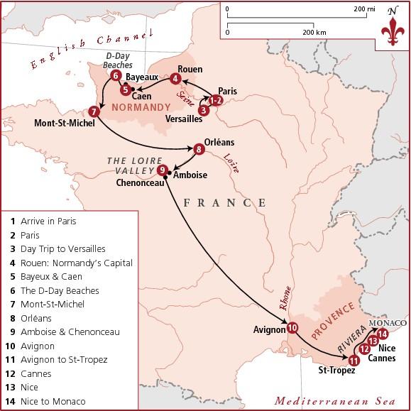 Маршрут по Франции на 2 недели