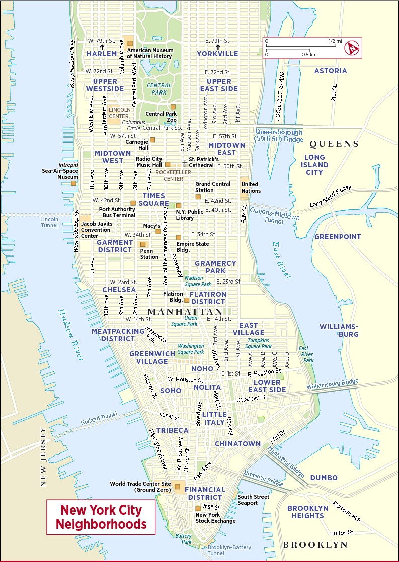Maps in New York City | Frommer's