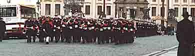 A military parade in Prague