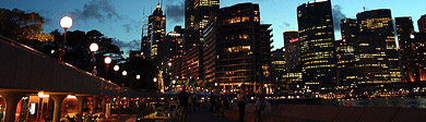 Frommers: A World of Travel Experience: Sydney, Australia waterfront at night