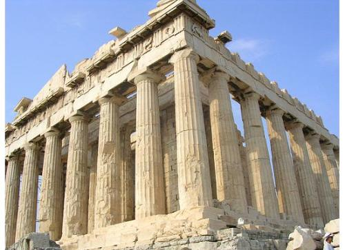 Exterior of the Parthenon in Athens