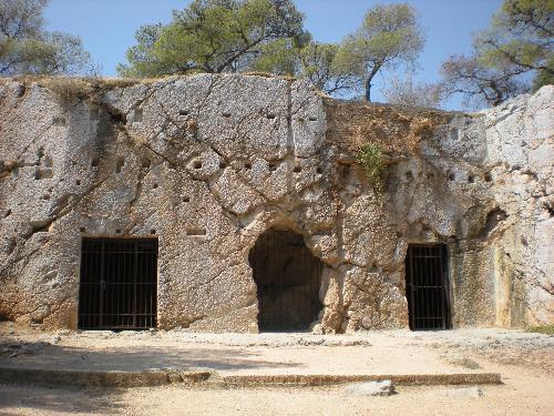 exterior of Plato's Prison, Athens