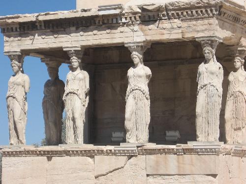 the facade of the Erechtheum at Athens