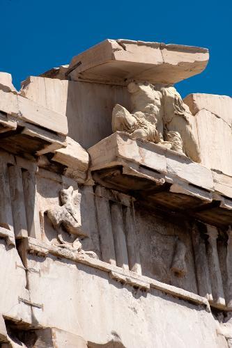 Detail of the Parthenon, Athens, Greece