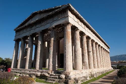 The Temple of Hephaestus in Athens, Greece.
