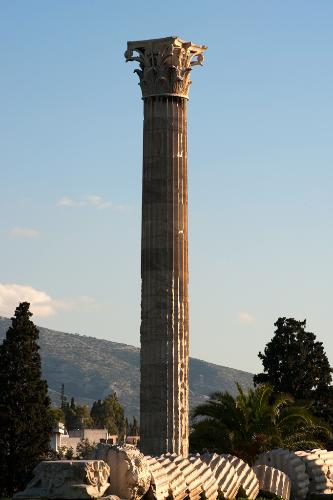 Column from the Temple of Zeus in Athens, Greece.