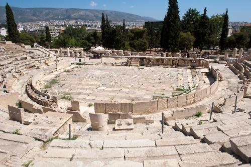 Theater of Dionysos in Athens, Greece.