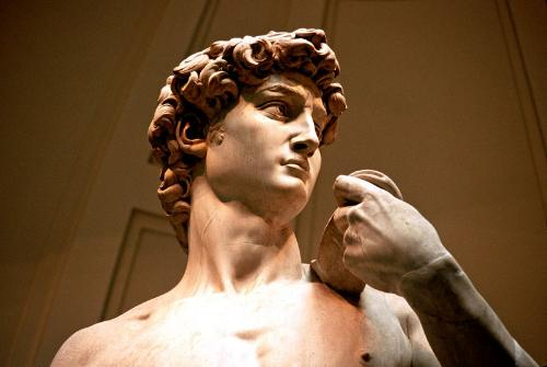 Michelangelo's David draws throngs of admirers to the Accademia.