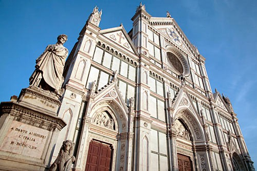 The facade of Santa Croce was a 19th-century addition to the Franciscans' Florence headquarters.