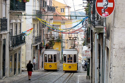 Streetcars in Lisbon, Portugal