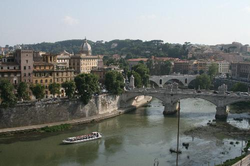 View of Tiber River from Castelo St. Angelo, Rome