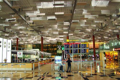 Terminal 3 in Changi International Airport, famous for its uniquely-designed roof.