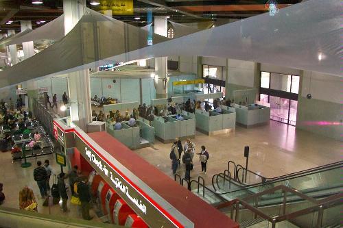 Queen Alia International Airport in Amman, Jordan.