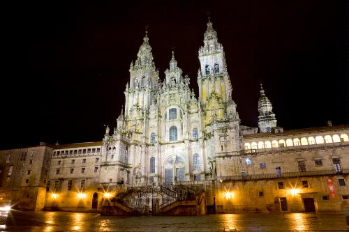 The Cathedral of Santiago de Compostela, Spain.