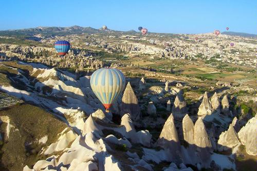 Hot-air ballooning in Cappadocia, Turkey.