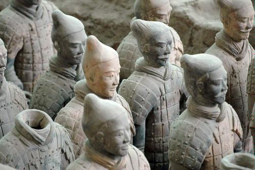 Terracotta warriors in Xian, China.