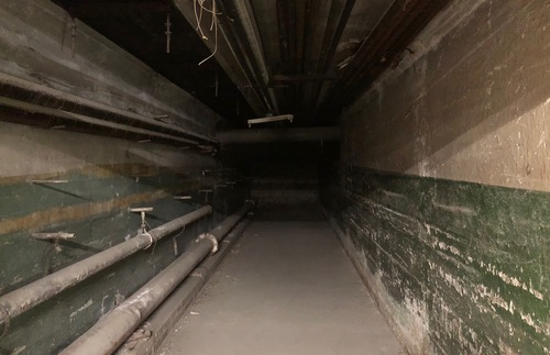 Abandoned underground tunnel, Los Angeles