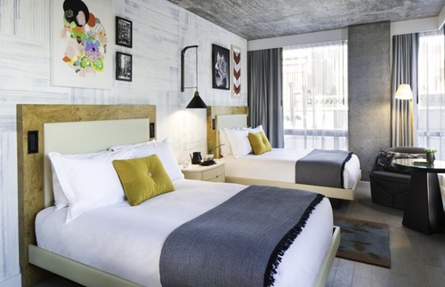 double guest room, 50 Bowery Hotel, New York City