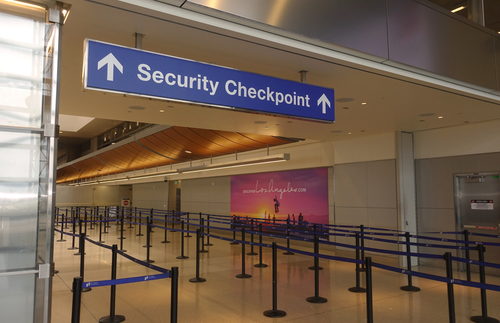 Security checkpoint at Los Angeles International Airport
