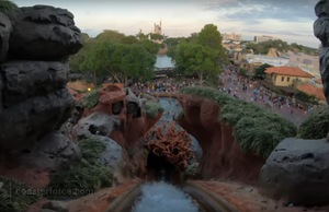POV of drop on Splash Mountain, Magic Kingdom, Walt Disney World
