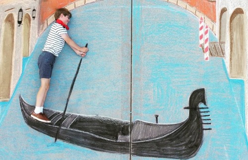 Venice chalk drawing by Macaire Everett
