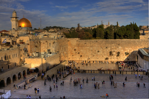 Dome of the Rock & the Western Wall, Jerusalem, Israel.