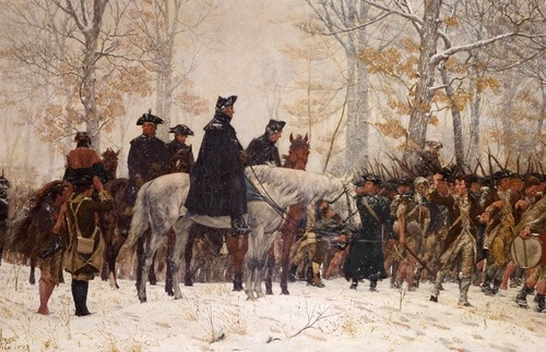 """The March to Valley Forge"" (1883) by William B.T. Trego; on display at the Museum of the American Revolution"