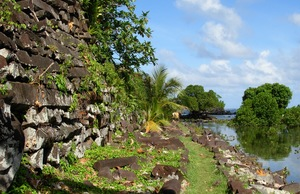 Ruins of the ancient city of Nan Madol in Micronesia