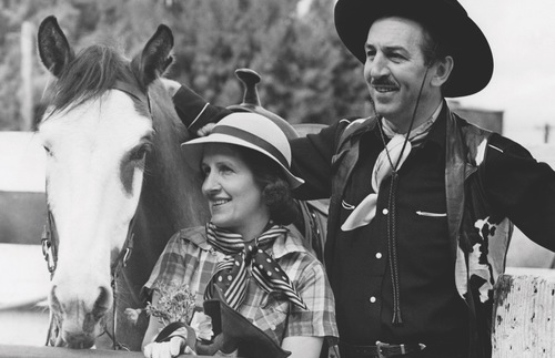 Walt and Lillian Disney at B-Bar-H Ranch near Palm Springs