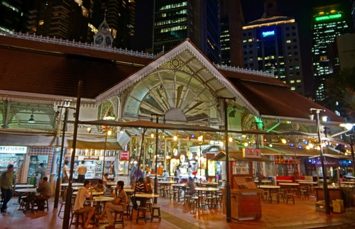Lau Pa Sat market in Singapore