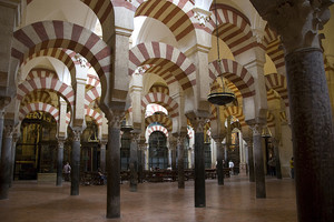 A photo of the Arches in the Mosque-Cathedral of Cordoba