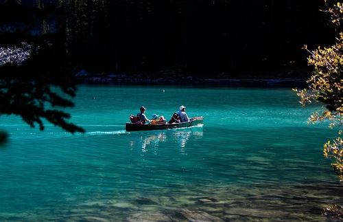 Moraine Lake at Banff National Park in Alberta, Canaa