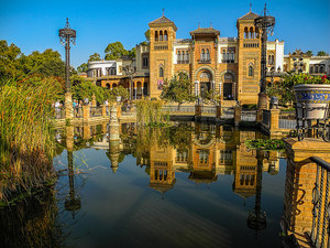 A photo of a canal in Seville