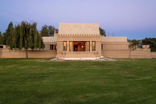 Roof, Hollyhock House