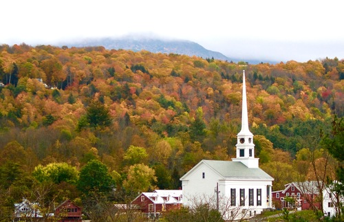 Stowe Community Church in Vermont