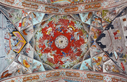 Ceiling of Badal Mahal in Rajasthan, India