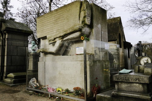 Tombs and sculptures in Père-Lachaise, including Oscar Wilde's monument, have been damaged by natural elements and visitors
