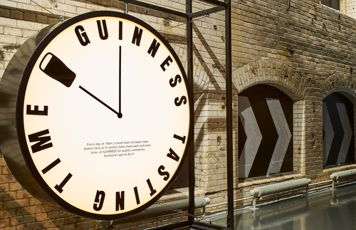 Inside the Guinness Storehouse in Dublin