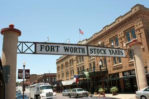 Stockyards National Historic District in Fort Worth, Texas