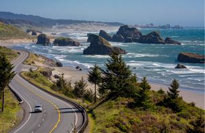 U.S. 101 near Cannon Beach on the Oregon Coast