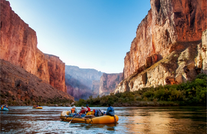 Rafters on the Colorado River in the Grand Canyon