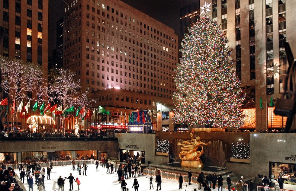 New York City's Rockefeller Center at Christmastime