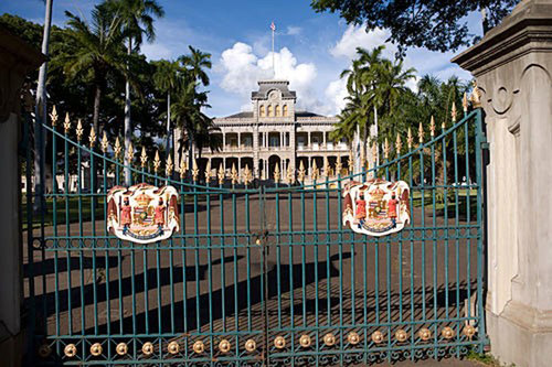 Iolani is America's only royal palace and recently received a $7 million renovation to restore its former majesty.