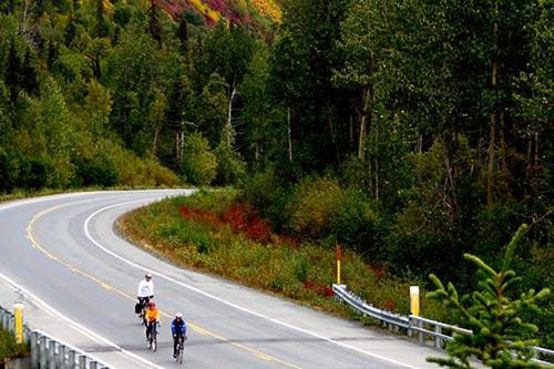 Amazing scenery is included on Alaska Bike tours. Courtesy Alaska Bike