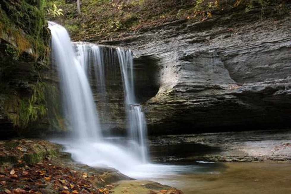 Treman State Park in Ithaca, New York.