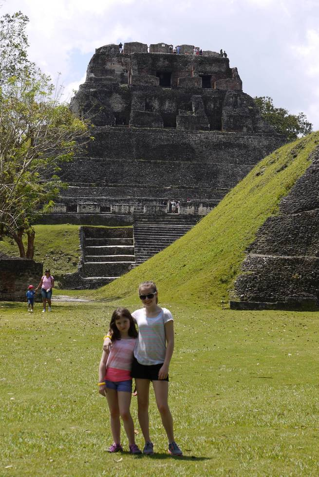 Climbing the ancient Mayan temple of Xunantunich was just one of many adventures available to families in Belize