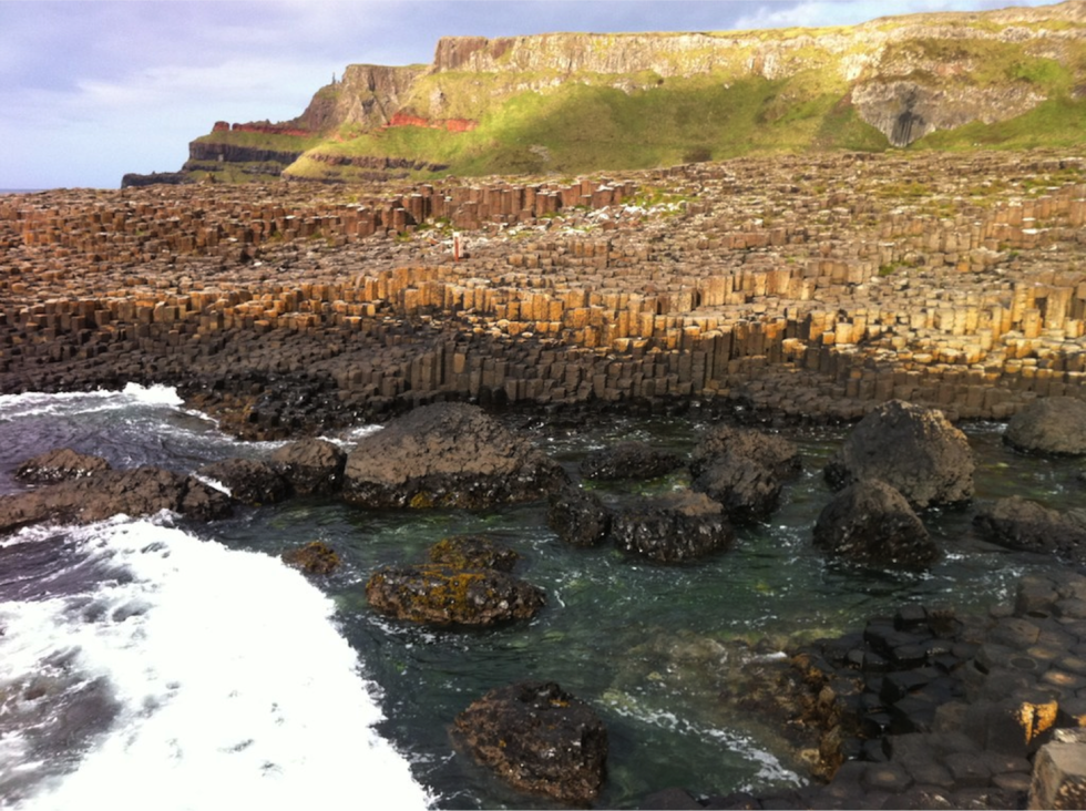 Not only is the Giant's Causeway beautiful, kids have a lot of fun climbing  around on the basalt columns